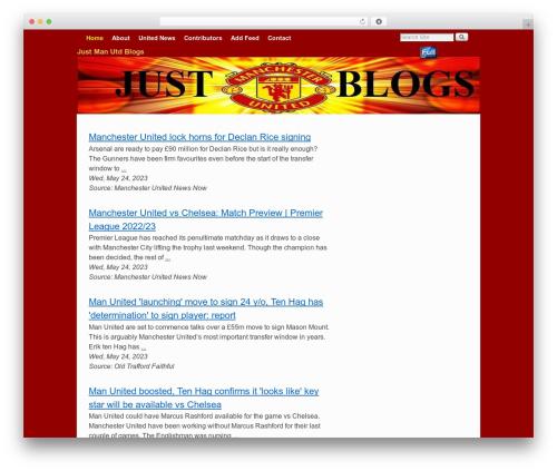 Weaver II WordPress theme - justmanutdblogs.com