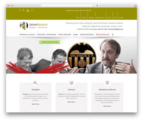 WordPress template Avada - jaimenavarro.net