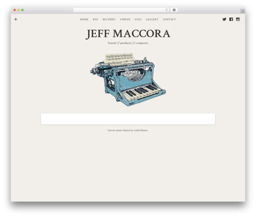 WordPress theme Encore - jeffmaccora.com