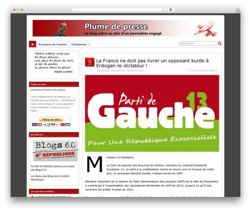 WordPress theme Suffusion - plumedepresse.net