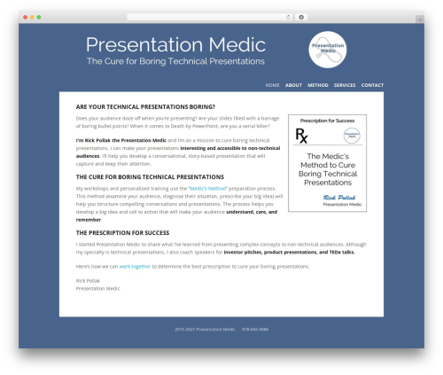 WordPress website template Flexible - presentationmedic.com