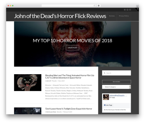 X theme WordPress - johnofthedead.com