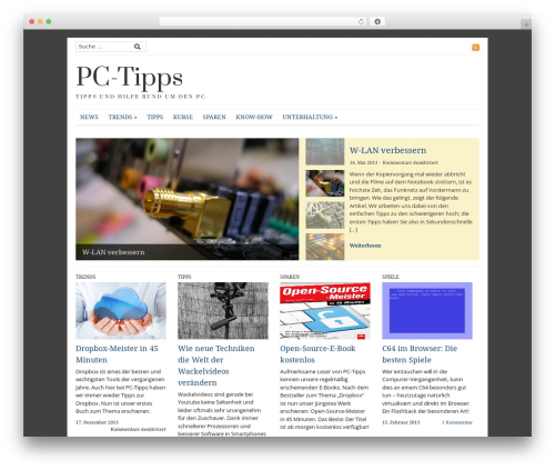 Best WordPress theme Yamidoo Magazine - pc-tipps.de