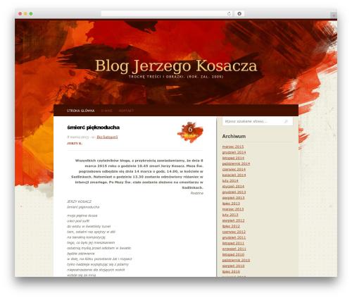 Journic WordPress blog template - jerzykosacz.pl