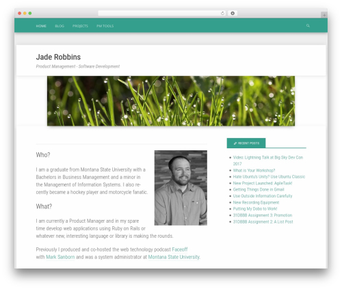 Polymer WordPress template for business - jaderobbins.com