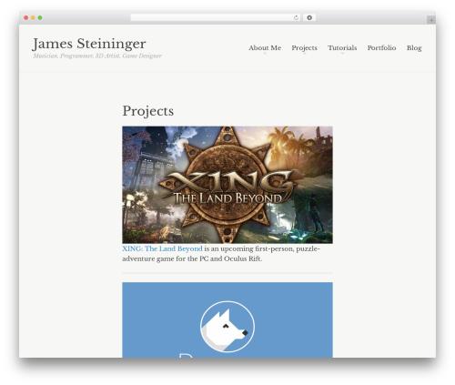 Readly WordPress gaming theme - jamessteininger.info
