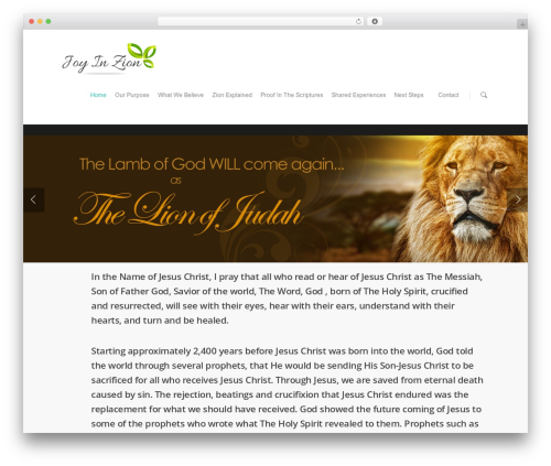 Salient best WordPress theme - joyinzion.org