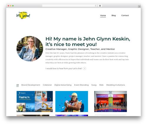Salient WordPress theme - jehnglynn.com