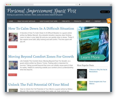 Snowblind free website theme - personalimprovementguestpost.com