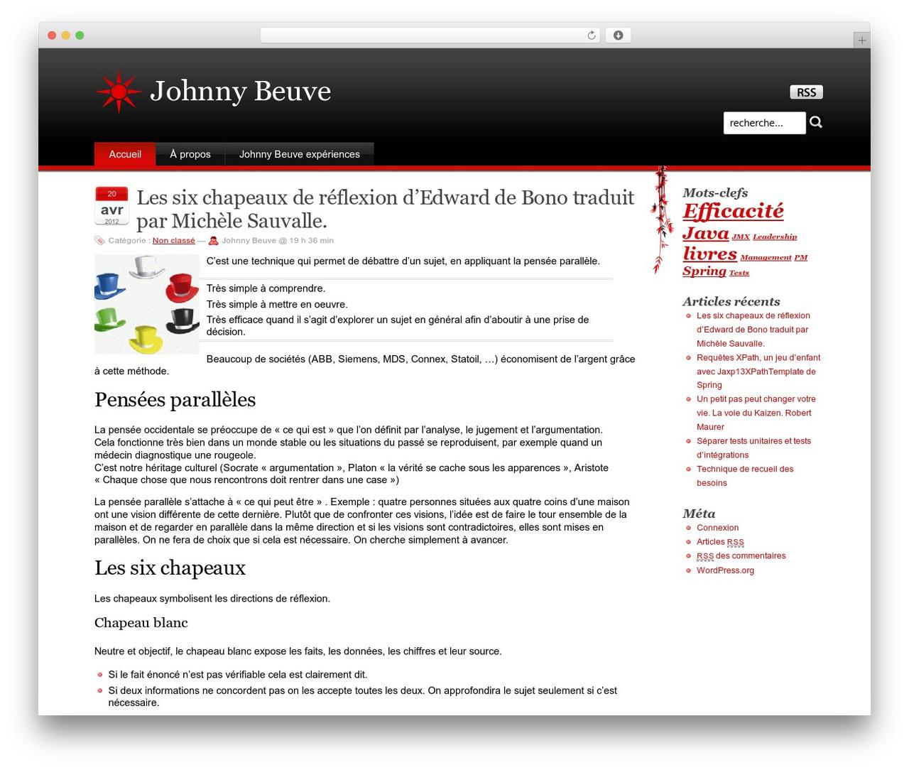 Theme WordPress Stardust - jbeuve.net