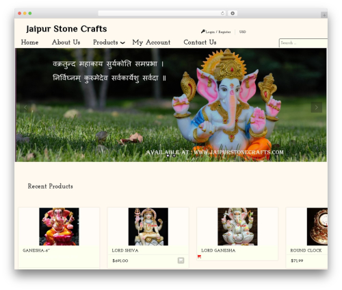 Zeon WordPress theme - jaipurstonecrafts.com