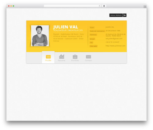 Zwin - Responsive VCard WordPress theme - julienval.com