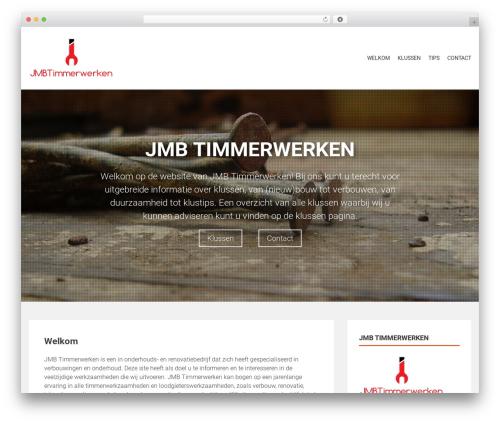 AccessPress Parallax WordPress theme - jmbtimmerwerken.nl
