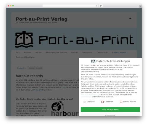 Catch Base Pro template WordPress - port-au-print.de/harbour-records