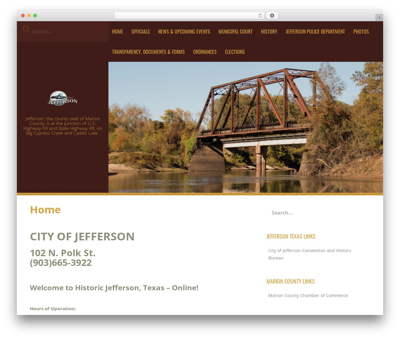 Kurama WordPress template - jeffersontexas.us