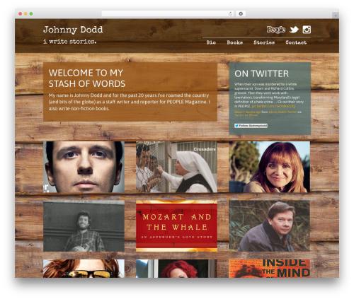 Mixfolio best WordPress template - johnnydodd.com