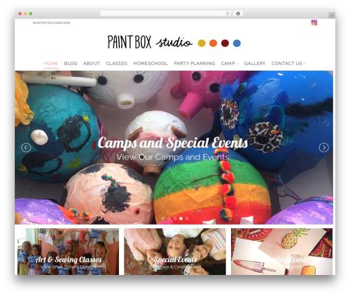 Template WordPress Flatsome - paintboxartstudio.com