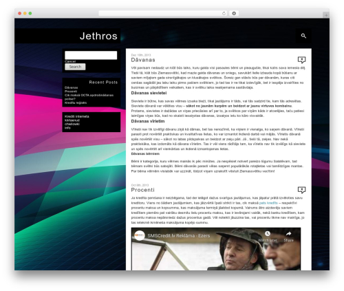 Theme WordPress Corner - jethros.eu