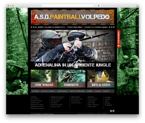 WordPress website template Milo - paintballvolpedo.com