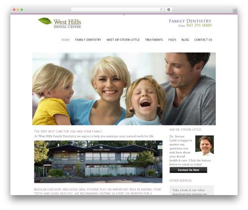 Anps's Coolblue WordPress website template - familydentistryportland.net