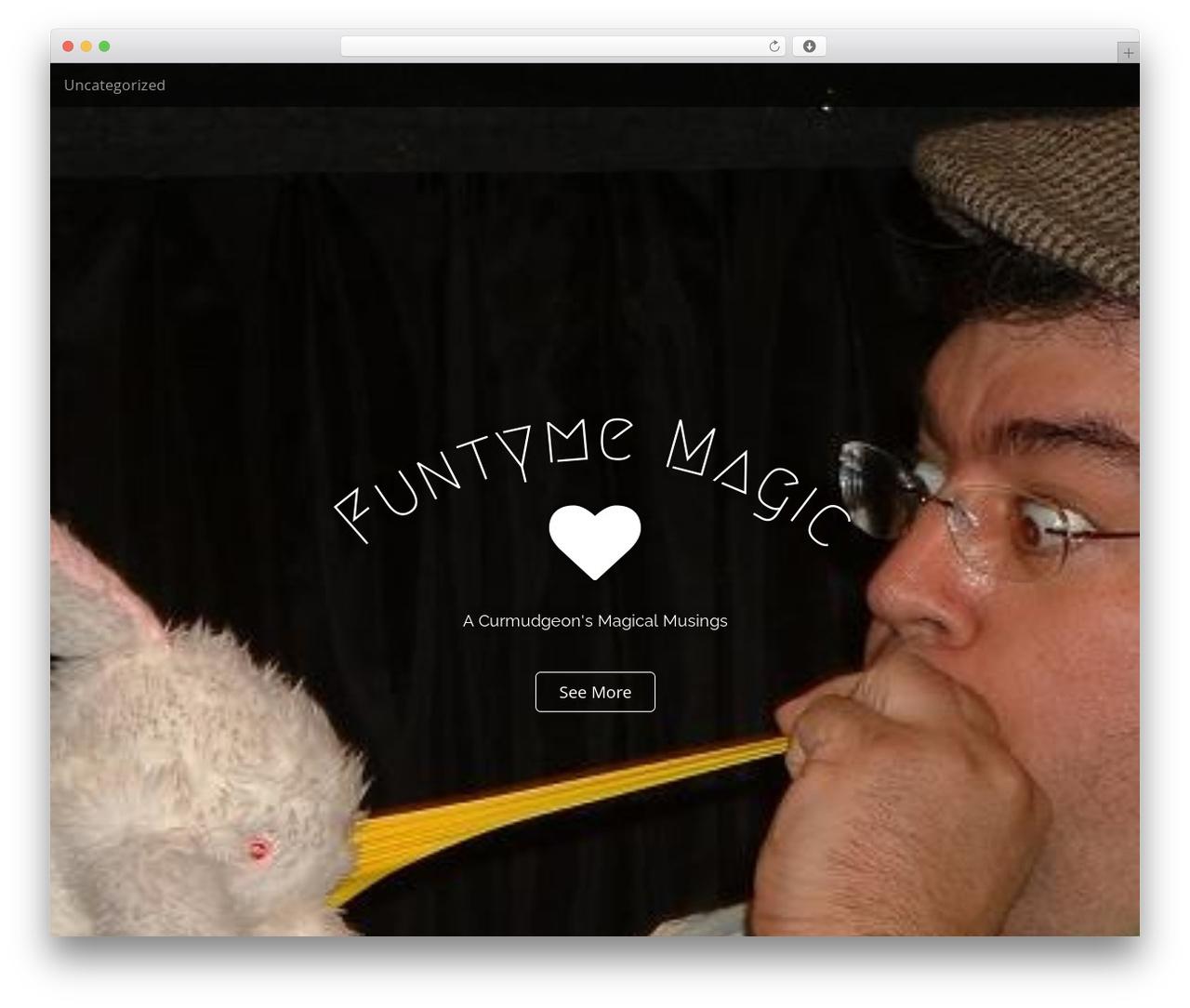 Arcade Basic template WordPress free - funtymemagic.com