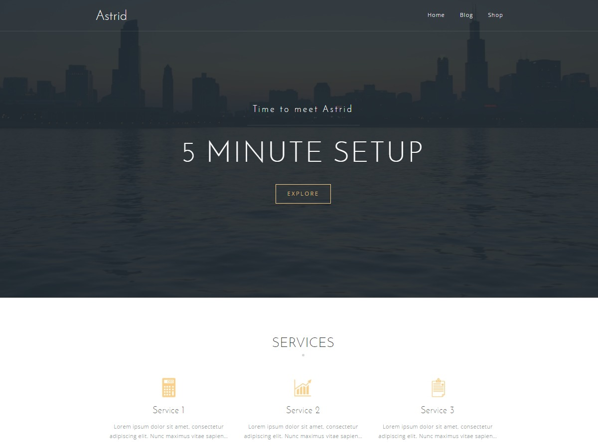Astrid Child WP theme
