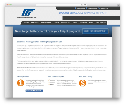 Avada template WordPress - freightmgmt.com