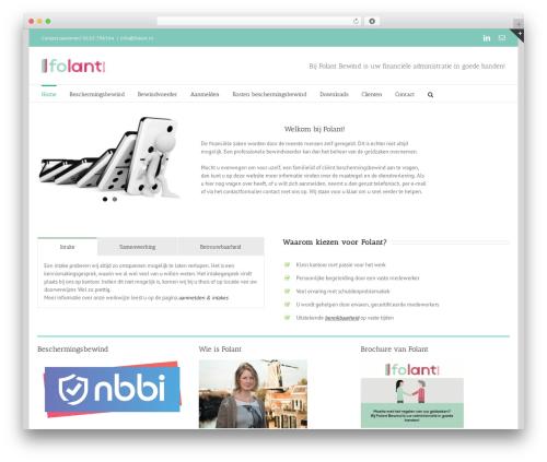Avada WordPress theme design - folant.nl