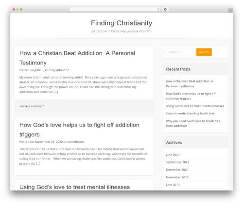 Base WP WordPress theme design - findchristianity.com