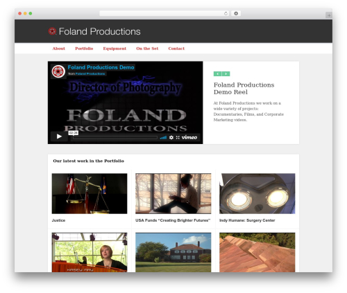 Best WordPress template Motion Picture - folandproductions.com