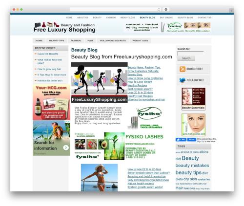 Blue News best WooCommerce theme - freeluxuryshopping.com