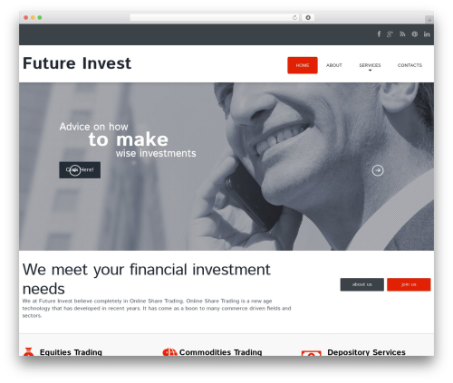 cherry best WordPress theme - futureinvest.in