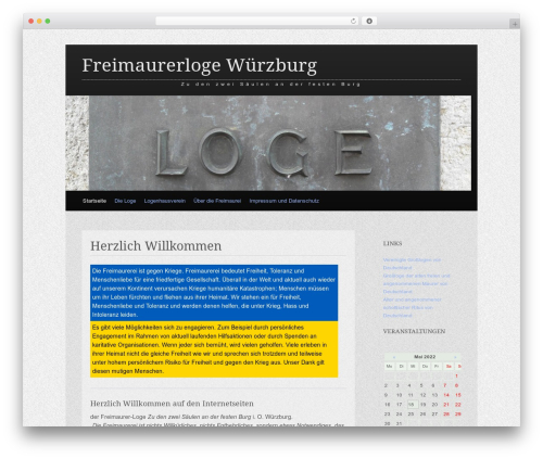Claydell Media WordPress theme design - freimaurer-wuerzburg.de