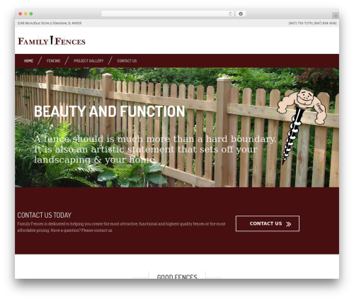 Contractor company WordPress theme - familyfences.com
