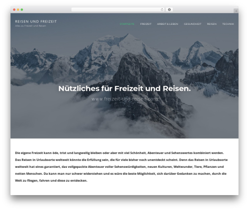 cronus WordPress website template - freizeit-und-reisen.com