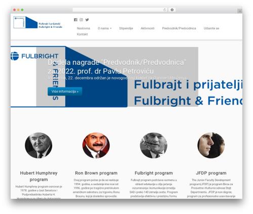 Customizr Pro WordPress template - fulbright.org.rs