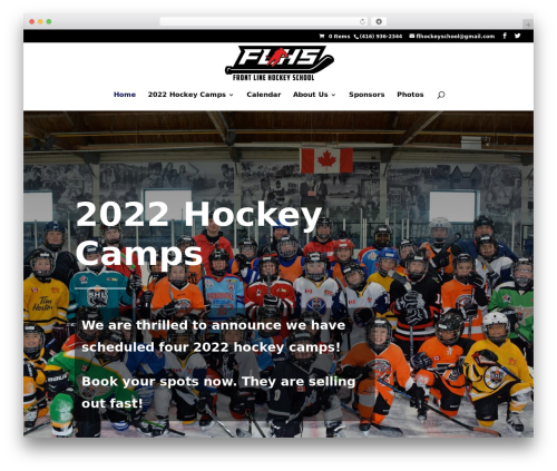 Divi WordPress theme - frontlinehockeyschool.ca