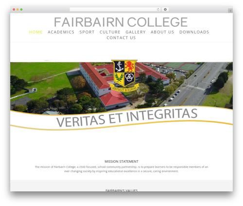 Free WordPress Business Contact Widget plugin - fairbairncollege.com