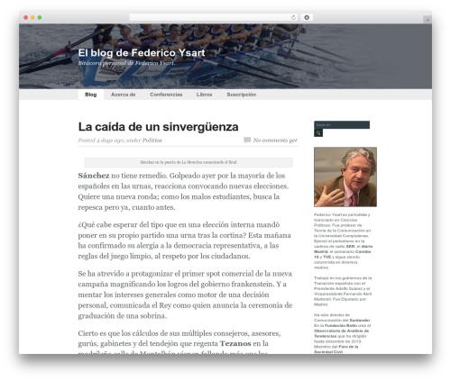 Flow WordPress blog template - federicoysart.com
