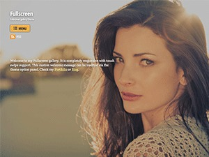 Fullscreen WordPress website template