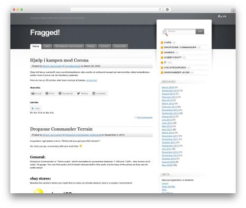 Fusion premium WordPress theme - fragged.info