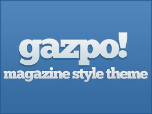 gazpoMag WordPress news template