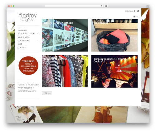 Gridspace theme WordPress - findmystyle.com
