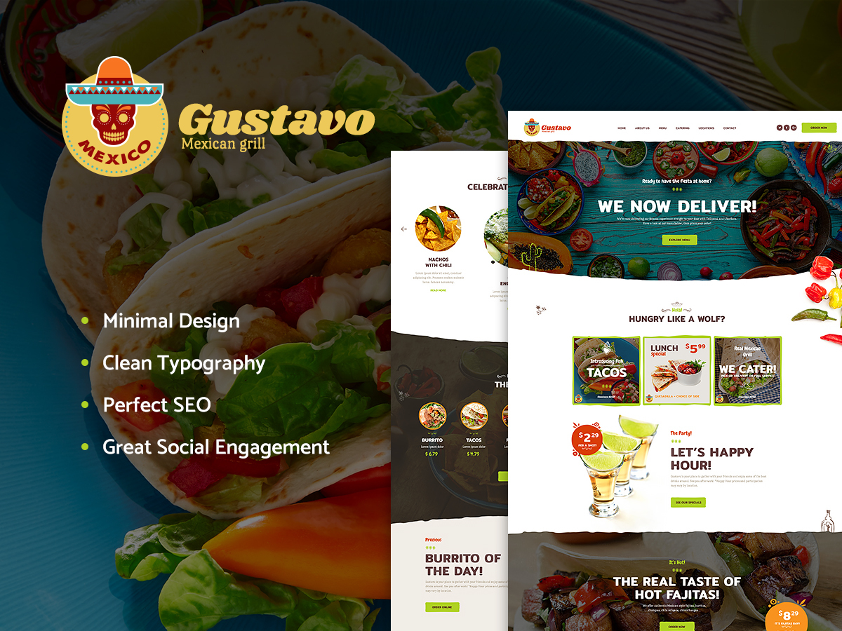 Gustavo WordPress blog theme