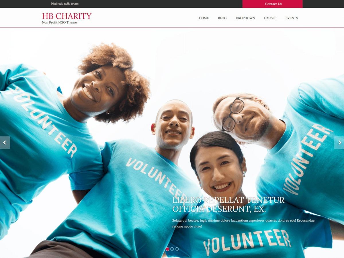 HB Charity WordPress template free