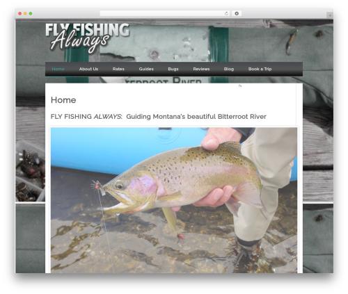 Isquar WordPress theme design - flyfishingalways.com
