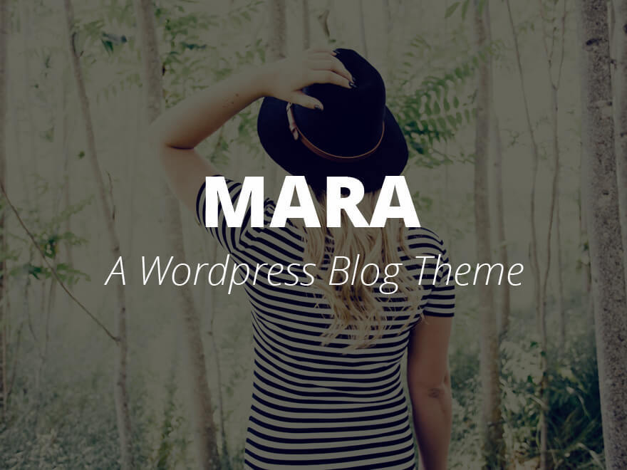 Mara WordPress blog template