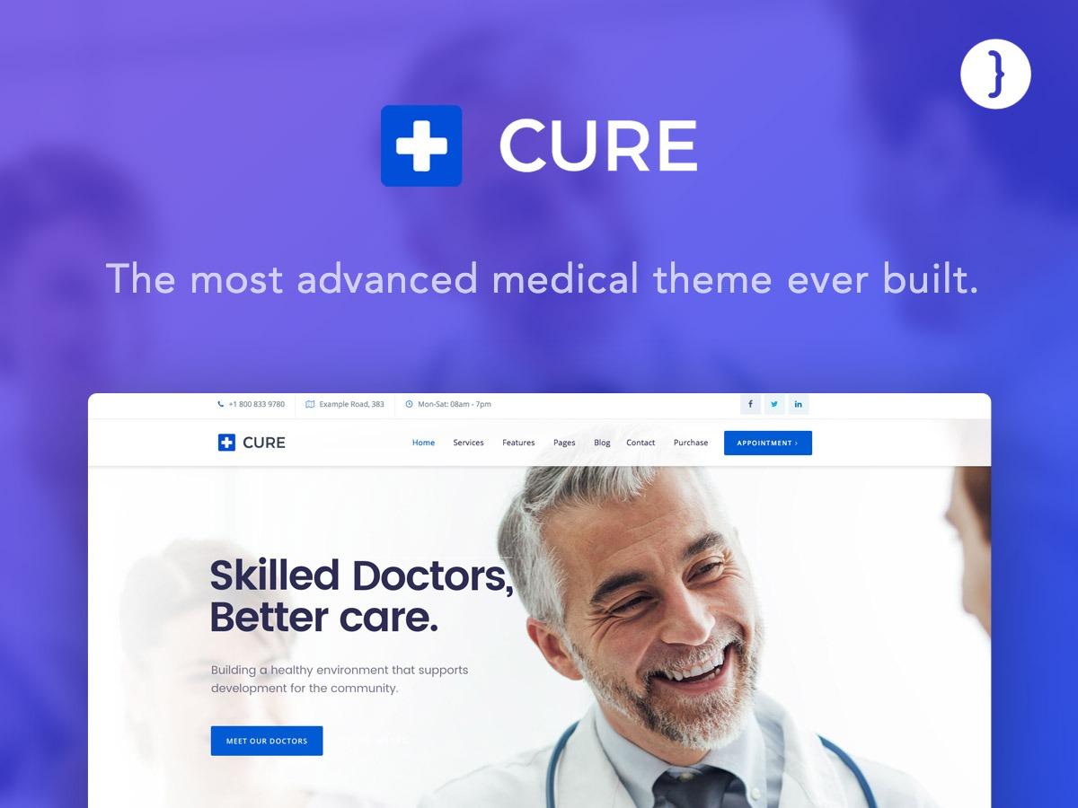 Medical Cure medical WordPress theme