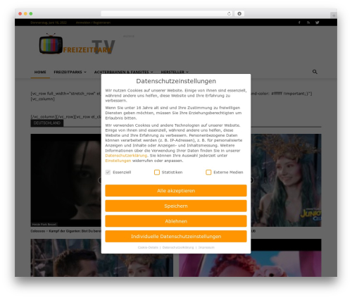 Newspaper WordPress video template - freizeitpark.tv