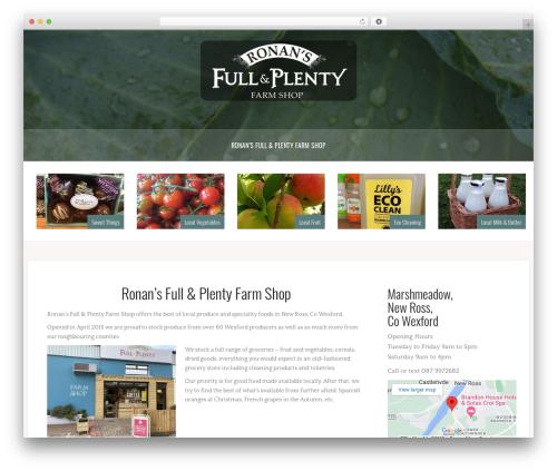 Oria WordPress theme download - fullandplenty.ie